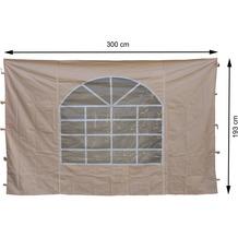 Grasekamp 2 Seitenteile 300x193cm zu Sahara 3x3m Sichtschutz Sonnenschutz Windschutz Beige