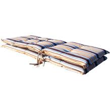 Grasekamp 2 Stück Auflagen Marine Kissen Polster  Klappsessel Klapp-Stuhl Gartenstuhl blau