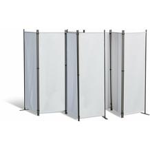 Grasekamp 2 Stück Paravent 4tlg Raumteiler  Trennwand Sichtschutz Weiß Weiß