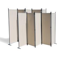 Grasekamp 2 Stück Paravent 5 teilig Beige  Raumteiler Trennwand Sichtschutz Beige