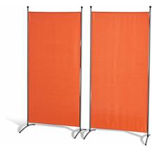 Grasekamp Doppelpack Stellwand 85x180 cm - terra -  Paravent Raumteiler Trennwand  Sichtschutz Terrakotta