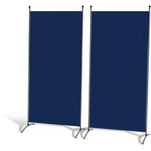 Grasekamp 2 Stück Stellwand 85x180cm Blau Paravent Raumteiler Trennwand Sichtschutz Blau