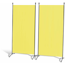 Grasekamp 2 Stück Stellwand 85x180cm Gelb  Paravent Raumteiler Trennwand  Sichtschutz Gelb