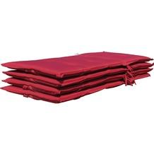 Grasekamp 4 Kissen Klappsessel Santos - Rubinrot  Uni rot