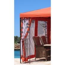 Grasekamp 4 Seitenteile zu Blätter Pavillon 3x4m  Terra Terrakotta
