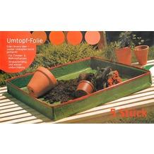 Grasekamp 5 Stück Umtopffolie Umtopfhilfe Allzweck  Pflanzunterlage Arbeitsunterlage  Universal Grün
