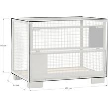 Grasekamp Abdeckhaube Gitterbox 125 x 85 x 95 cm  PVC Transparent wasserdicht UV stabil  Schutzhaube Abdeckplane Staubschutz Transparent