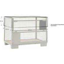 Grasekamp Abdeckhaube Gitterbox 127 x 87 x 30 cm  PVC Transparent Gummizug wasserdicht UV  stabil Transparent