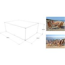Grasekamp Abdeckhaube Schutzhülle zu Sitzgruppe  Gartenmöbel 190x150x100 cm Weiß