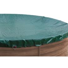 Grasekamp Abdeckplane für Pool rund 250-300cm  Planenmaß 340cm Sommer Winter Grün/Schwarz