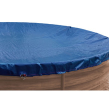 Grasekamp Abdeckplane für Pool rund 420 cm Royalblau Planenmaß 480cm Sommer Winter Blau/Schwarz