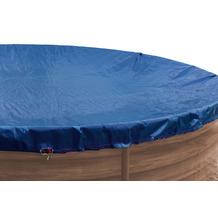 Grasekamp Abdeckplane für Pool oval 470x300 cm  Royalblau Planenmaß 540x380 cm Sommer  Winter Blau/Schwarz