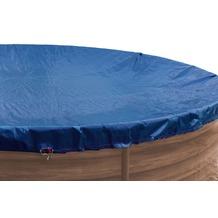 Grasekamp Abdeckplane für Pool oval 737x360cm  Royalblau  Planenmaß 820x440cm Sommer Winter Blau/Schwarz