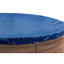 Grasekamp Abdeckplane für Pool rund 800 cm  Royalblau  Planenmaß 880 cm Sommer Winter Blau/Schwarz