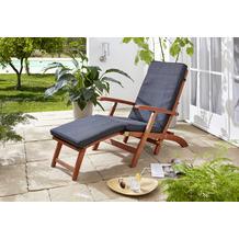 Grasekamp Auflage Anthrazit zu Deckchair Santos 174x51x6cm Gartenliege Liegestuhl Sonnenliege Relaxliege Anthrazit