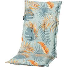 Grasekamp Auflage Palmen Blätter Blau zu Gartensessel Kissen Gartenstuhl Klappstuhl Grün