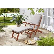 Grasekamp Auflage Sand zu Deckchair Santos  174x51x6cm Gartenliege Liegestuhl  Sonnenliege Relaxliege Beige