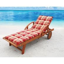 Grasekamp Auflage Sommerfrisch für Gartenliege  Liegestuhl Sonnenliege Relaxliege Orange/Terra karriert