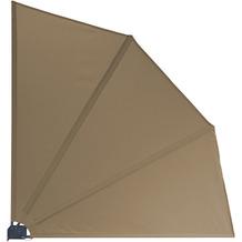 Grasekamp Balkonfächer 120 x 120 cm Taupe mit  Wandhalterung Schutzhülle Trennwand  Sichtschutz Taupe