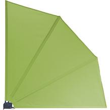 Grasekamp Balkonfächer Premium 140x140cm Apfelgrün mit Wandhalterung Trennwand Sichtschutz Grün