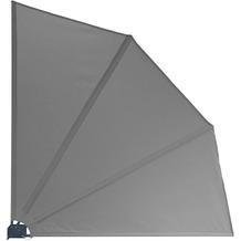 Grasekamp Balkonfächer Premium 140x140cm Grau mit  Wandhalterung Trennwand Sichtschutz Grau