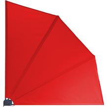 Grasekamp Balkonfächer Premium 140x140cm Rot  mit Wandhalterung Trennwand Sichtschutz Rot