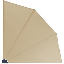 Grasekamp Balkonfächer Premium 140x140cm Sand mit  Wandhalterung Trennwand Sichtschutz Beige