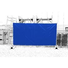 Grasekamp Bauzaunplane 160gr 176x341cm Blau Blau