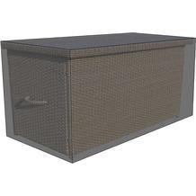 Grasekamp Black Premium Kissenboxhülle 145x75x65cm  / cushion box cover / atmungsaktiv /  breathable Schwarz