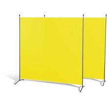 Grasekamp Doppelpack Stellwand 180x180 cm - gelb -  Paravent Raumteiler Trennwand  Sichtschutz Gelb