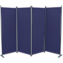 Grasekamp Ersatz Bezug Paravent 4tlg Blau  Raumteiler Trennwand Sichtschutz Blau
