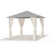 Grasekamp Ersatzdach 3x3m Garten Pavillon Nizza  Grau Plane Bezug universal Partyzelt Grau