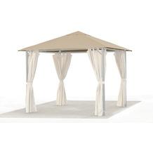 Grasekamp Ersatzdach 3x3m Gartenpavillon Nizza  Sand Pavillon Partyzelt Bezug universal Beige