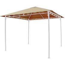 Grasekamp Ersatzdach 3x3m Sand universal zu  Antik Pavillon Gartenpavillon Partyzelt  Plane Bezug Beige