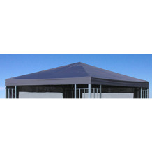 Grasekamp Ersatzdach Aluoptik Pavillon 3x3m  Anthrazit Ersatzbezug Ersatzplane  Rankpavillon Anthrazit
