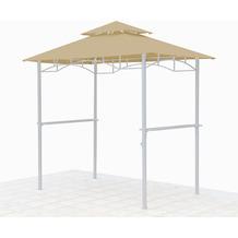 Grasekamp Ersatzdach für BBQ Grill Pavillon  1,5x2,4m Sand Unterstand Doppeldach  Gazebo Beige
