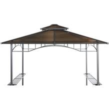 Grasekamp Ersatzdach Hardtop BBQ Pavillon 1,5x2,4m  Doppelstegplatten Polycarbonat Braun Braun