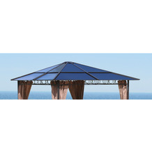 Grasekamp Ersatzdach Hardtop Pavillon 3x3m  Doppelstegplatten Polycarbonat Braun Braunbeige