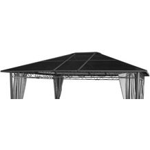 Grasekamp Ersatzdach Hardtop Pavillon Meran 3x3,6m  Doppelstegplatten Polycarbonat Braun Braunbeige