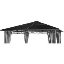 Grasekamp Ersatzdach Hardtop Pavillon Meran 3x3m  Doppelstegplatten Polycarbonat Braun Braunbeige