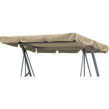 Grasekamp Ersatzdach Universal Hollywoodschaukel  Beige Ersatz-Bezug Sonnendach Dachplane Beige