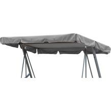 Grasekamp Ersatzdach Universal Hollywoodschaukel  Grau Ersatz-Bezug Sonnendach Dachplane Grau