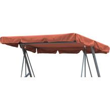 Grasekamp Ersatzdach Universal Hollywoodschaukel  Terra Ersatz-Bezug Sonnendach Dachplane Orange