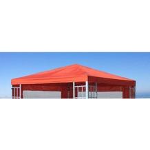 Grasekamp Ersatzdach zu Aluoptik Pavillon 3x3m  Terrakotta Plane Ersatzbezug Terrakotta