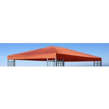Grasekamp Ersatzdach zu Aluoptik Pavillon 3x4m  Terrakotta Rankpavillon universell Terrakotta