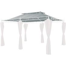 Grasekamp Ersatzdach zu Garten-Pavillon Inca 3x4  Grau Party-Zelt Terrassen-Dach Grau