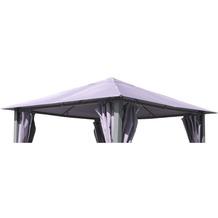 Grasekamp Ersatzdach zu Garten-Pavillon Paris 3x3m  Grau Gazebo Gartenzelt Partyzelt Grau