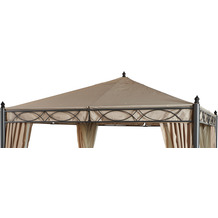 Grasekamp Ersatzdach zu Garten-Pavillon ROM 3x3m  Beige Party-Zelt Terrassen-Dach Beige
