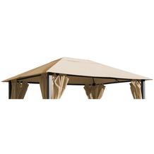 Grasekamp Ersatzdach zu Pavillon Paris 3x4m Sand  Plane Bezug Gartenpavillon Beige
