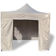 Grasekamp Faltpavillon Modena 3x3m grau inkl.  Seitenteile - extra starkes Gestell grau